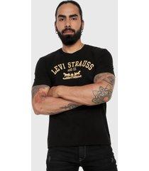 camiseta negro-amarillo levis