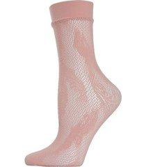 natori plume net crew socks, women's, pink natori