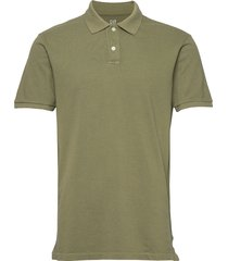 all day pique polo shirt polos short-sleeved grön gap