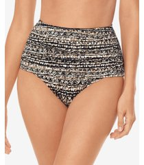 miraclesuit printed norma-jean retro high-waist bottoms women's swimsuit