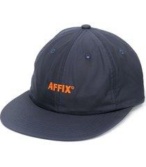 affix embroidered logo cap - blue