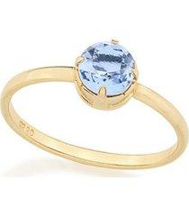 anel solitário composto por cristal de rommanel