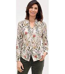 blouse mona ecru::groen::fuchsia