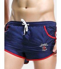 uomo casual shorts sportivi domestici traspirabili da spiaggia nuoto con multi-tasche