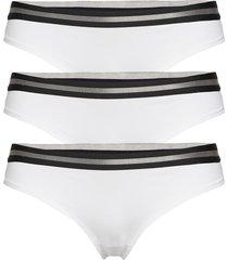 organic cotton thong by pernille blume 3 pack stringtrosa underkläder vit danish endurance