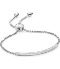 sterling silver fiji diamond mini bar bracelet diamond