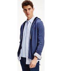 tommy hilfiger men's organic cotton zip hoodie sweater navy - s