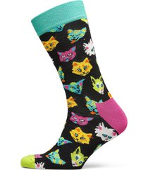 funny cat sock underwear socks regular socks svart happy socks