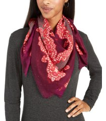 echo icy paisley square scarf