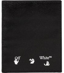 off-white logo credit card holder omnd005e20lea002
