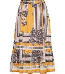 valley mw midi skirt knälång kjol gul second female