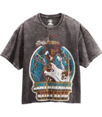 junk food cotton jimi hendrix graphic cropped t-shirt
