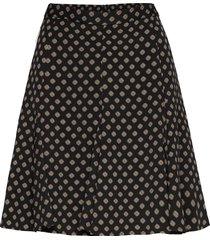 framed godet skirt kort kjol svart michael kors