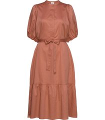 aimee ss midi dress jurk knielengte oranje second female