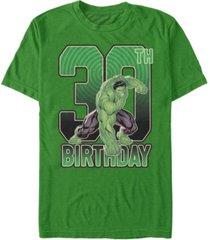 fifth sun men's marvel hulk smash 30th birthday short sleeve t-shirt