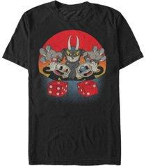 fifth sun men's roll dice get snake eyes devil dealt short sleeve t- shirt