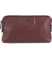 longchamp women's leather pouch - burgundy