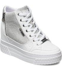 riggz/stivaletto /leat sneakers skor vit guess