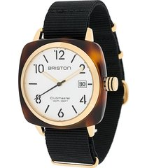 briston watches clubmaster classic acetate watch - black