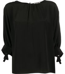 max & moi relaxed fit blouse - black
