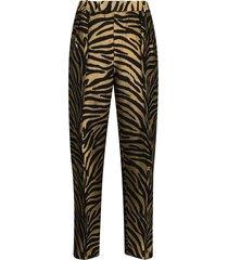 magdeline zebra-print trousers