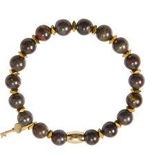 bracelete masculino andy - marrom