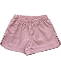 shorts básico tóing kids rosê
