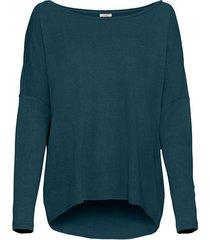 oversized shirt van bourette-zijd met vleermuismouwen, petrol 44/46