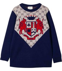 gucci wool sweatshirt with embroidery