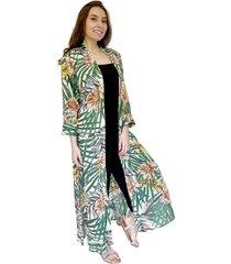 kimono largo hojas verdes natalia seguel