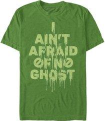fifth sun men's ain't afraid of no ghost slime text short sleeve t- shirt