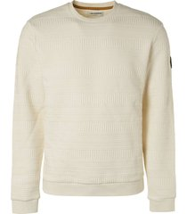 no excess sweater crewneck fancy jacquard chalk