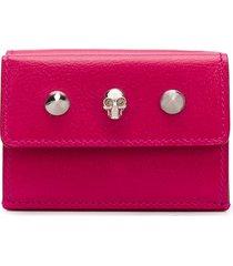 alexander mcqueen skull mini wallet - pink