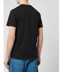 maison kitsuné men's palais royal classic t-shirt - black - m