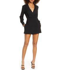 women's french connection chinza long sleeve romper