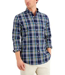 club room men's bedford plaid shirt, created for macy's