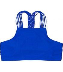 bikini peto con trenza trasera azul samia