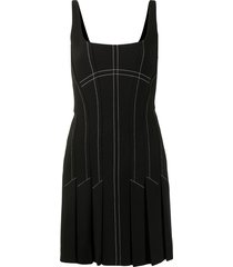 dion lee contrast stitch mini dress - black