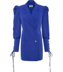 blazer lungo con maniche a sbuffo (blu) - bodyflirt