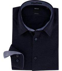 hugo boss overhemd donkerblauw lukas regular fit