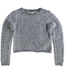 garcia korte zachte grijze trui