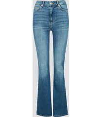 high waist curve bootcut jeans - denim