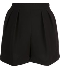 theory loose shorts with front pleats - black