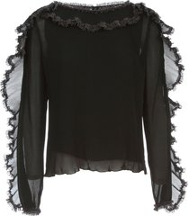 see by chloé sweater l/s wide neck w/flounce