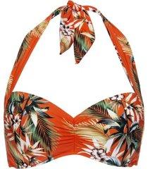 seafolly ocean alley soft cup halter bikini top * gratis verzending *