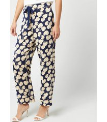 diane von furstenberg women's braelyn trousers - new navy - m - blue