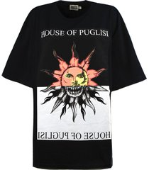 fausto puglisi black cotton oversize t-shirt