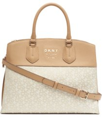 dkny signature large noho triple compartment satchel