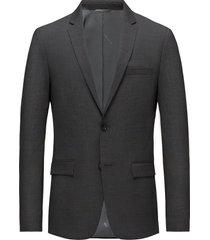 stretch wool slim su blazer colbert grijs calvin klein