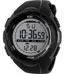 skmei 1025 reloj digital militar impermeable - negro gris